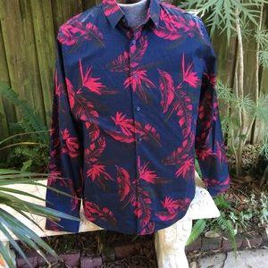 Express Leaf Print Shirt NWOT